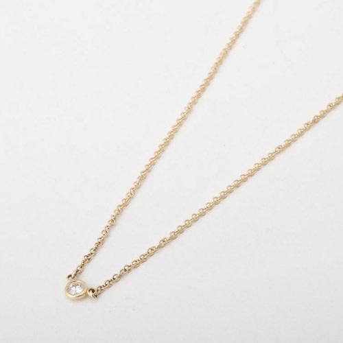 Tiffany&Co. ティファニー ネックレス バイザヤード ダイヤ0.05ct ペンダント 10769213