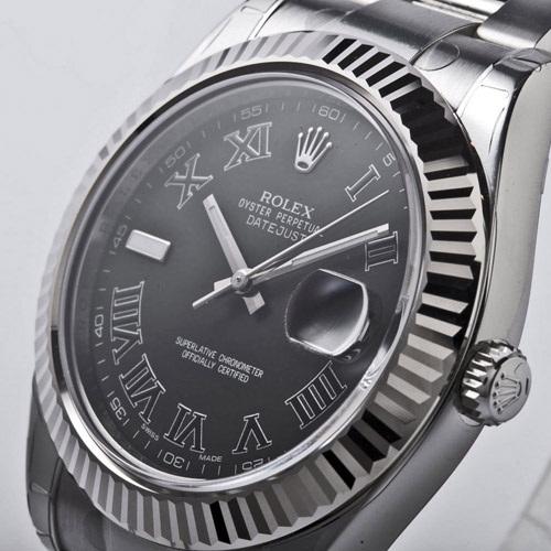 ROLEX Rolex date just II 116334 black men