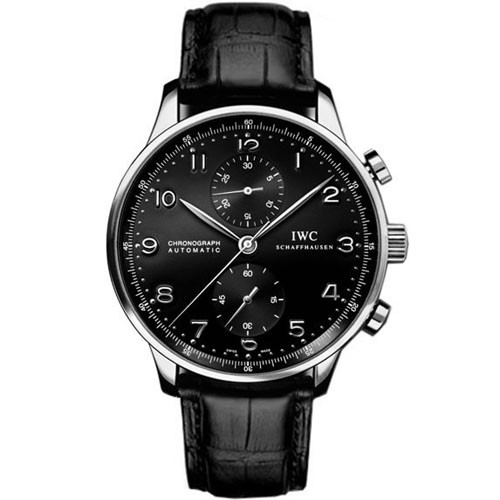 IW371447 IWC Portuguese chronograph leather belt black
