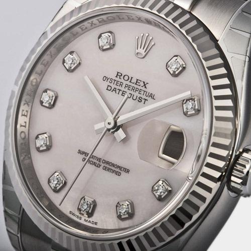 ROLEX Rolex date just 116234NG pink shell men