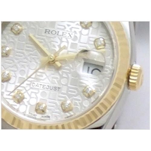 ROLEX Rolex date just 116233G silver computer men
