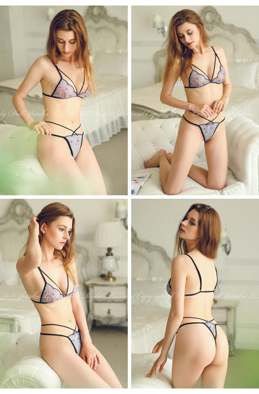 7995c8485 ... Sexy lingerie see-through marguerite bra  amp  T back set Alies6246B ...