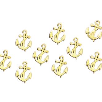 夏 メール便可 メタルパーツ 奉呈 アンカー 10枚入り 5mm×4mm ゴールド :ネイル ネイルアート 贈物 ネイルパーツ ジェルネイル デコ アート用品 激安 夏ネイル メタルスタッズ