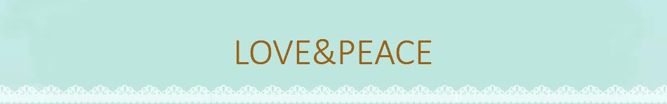 LOVE&PEACE:ベビー・キッズ用品,雑貨,衛生用品などを扱っています。