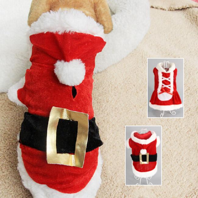 今年のクリスマスは サンタコスチュームで愛犬を可愛く大変身 クリスマス 犬服 仮装 犬 ドッグウェア 犬用 コスプレ衣装 暖か 冬用 サンタ 犬の服 Xmas メール便 新品未使用正規品 ドッグ dog 小型犬 ワンちゃん ペット サンタドレス 18%OFF 送料無料 犬の洋服