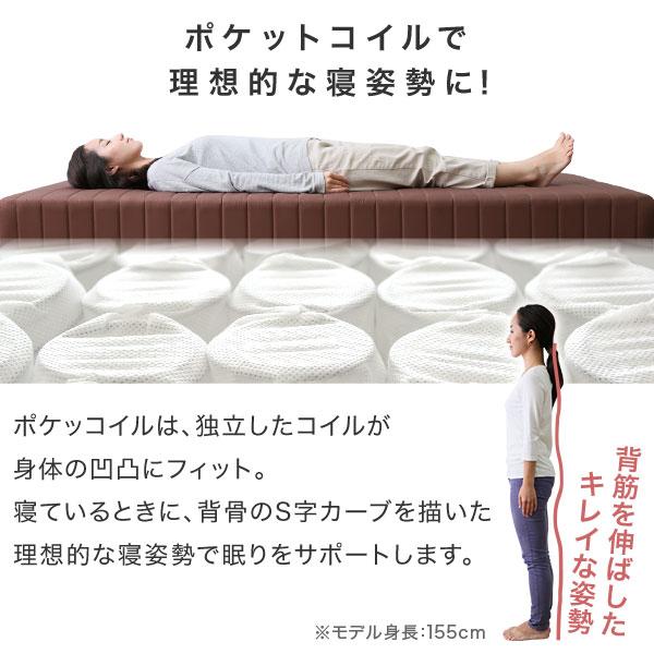 インテリア>セットアイテム>ベッド>脚付きマット vivianpc ベッド ポケットコイル