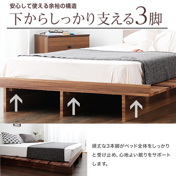 Low-ya: Bed Bed frame tall Slatted bed base bed mattress for double ...