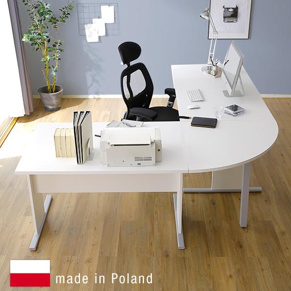 学習机 コンパクト おしゃれ 学習デスク 勉強机 リビング 大人 子供 デスク L字 パソコンデスク 収納 PCデスク 机 つくえ オフィスデスク パソコン机 ヨーロッパ直輸入 ポーランド産 sc4