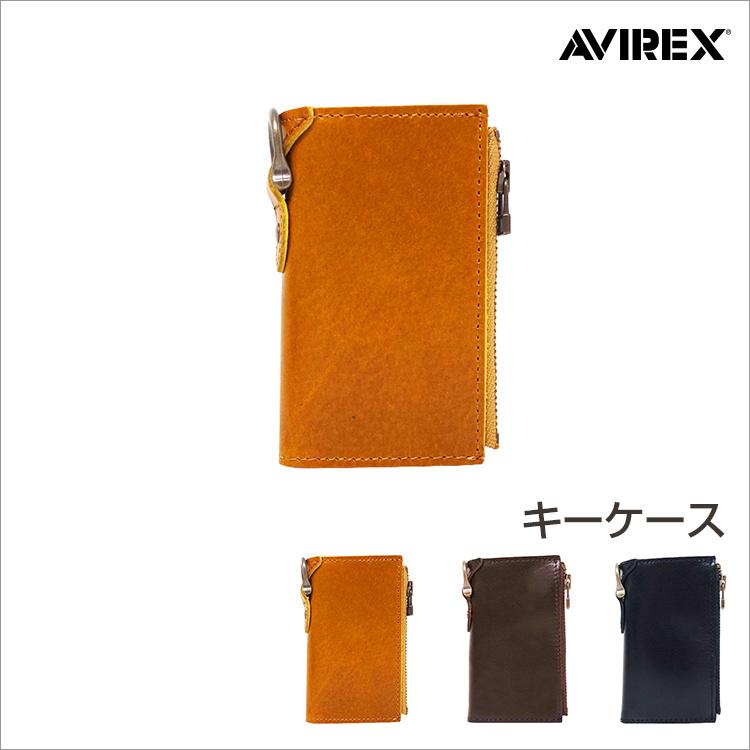 AVIREX アヴィレックス キーケース AVX1803 メンズ レディース ユニセックス 牛革 本革 本皮 レザー ラッピング無料 ギフト