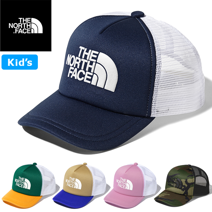 The Child Children S Clothes 5 Color Of The The North Face ザノースフェイス Nnj01911 Kids Logo Mesh Cap Kids Logo Mesh Cap Trucker Duck Camouflage Hat