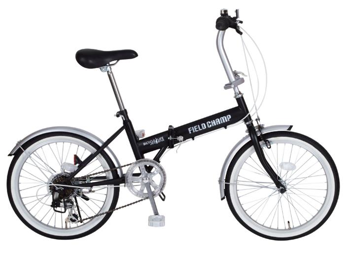 【送料無料】【代引不可】FIELD CHAMP(フィールドチャンプ) 20インチ折畳自転車FDB206 シマノ製6段ギア搭載 ブラック MG-FCP206 ブラック【北海道・沖縄・離島発送不可】