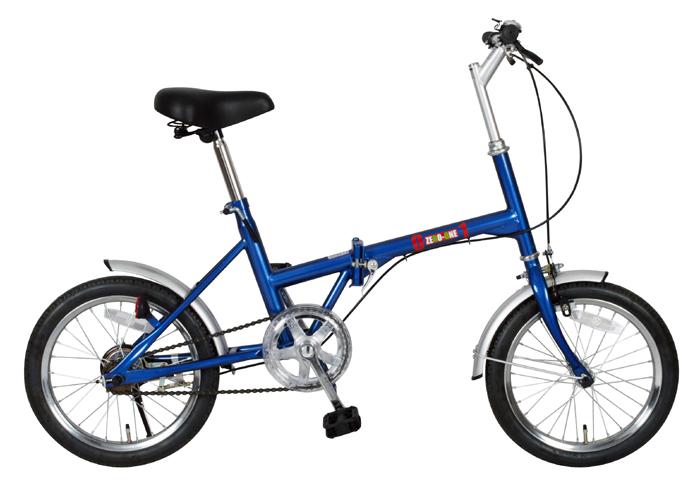 【送料無料】【代引不可】ミムゴ(MIMUGO) ZERO-ONE 折りたたみ自転車 16インチ ブルー No.72946【北海道・沖縄・離島発送不可】