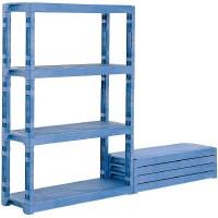 【同梱・代引き不可】三甲 サンコー プラスチック棚-L 805953 ブルー