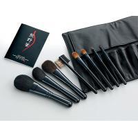 【同梱・代引き不可】Kfi-K508 熊野化粧筆セット 筆の心 ブラシ専用本革ケース付き