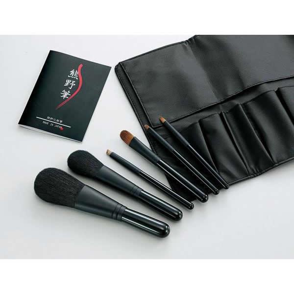 「世界のブランド熊野筆」として、品質の高さが自慢の化粧筆。 【同梱・代引き不可】Kfi-K206 熊野化粧筆セット 筆の心 ブラシ専用ケース付き