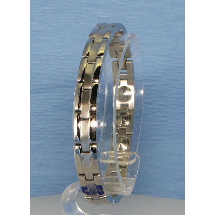 MARE(マーレ)ブレスレット 0.8cm×19.5cm IPミラー・マット ゲルマニウム16個付