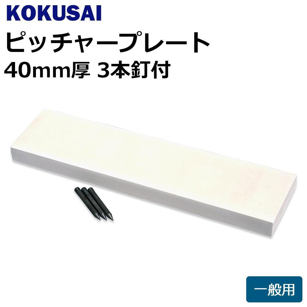 コクサイ KOKUSAI ピッチャープレート 一般用 40mm厚 3本釘付 1枚 RB540