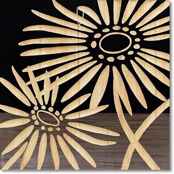 ユーパワー Wood Sculpture Art ウッド スカルプチャー アート ネーチャー ガーベラ2 (BK+NP) SA-15068