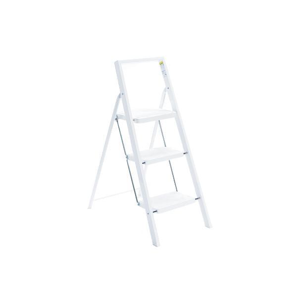 デザインにもこだわった折りたたみ式ステップ。 Istep 3段 ホワイト ISK-606(WH) 0336028