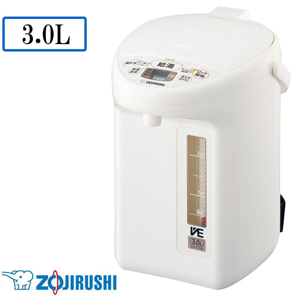 象印 マイコン沸とう VE電気まほうびん 優湯生(ゆうとうせい) WA(ホワイト) 3.0L CV-TZ30-WA