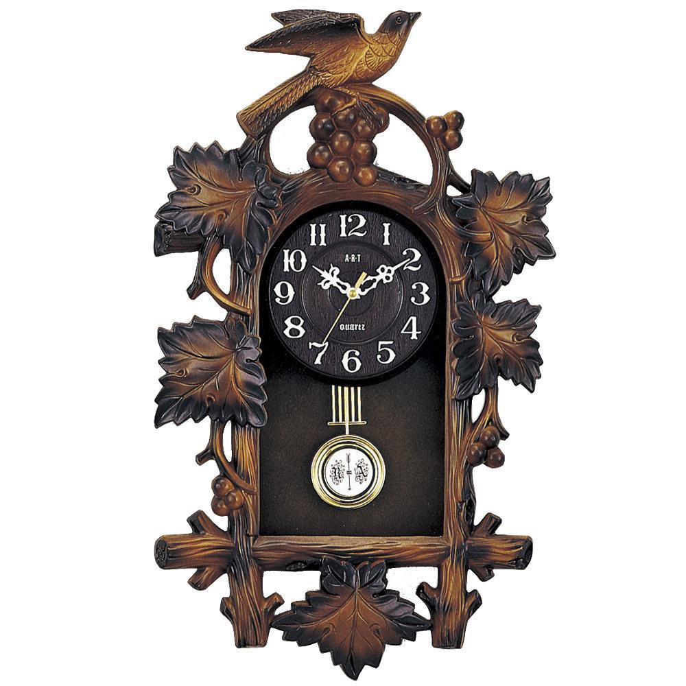 日本全国 送料無料 木彫りの風合いを感じさせる鳩時計 予約販売 東出漆器 ニューキング鳩時計 正時打 1801