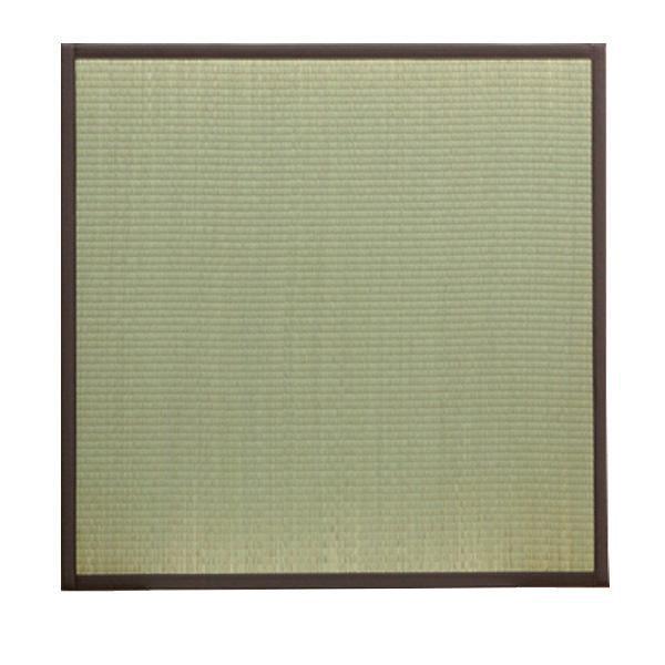 【同梱・代引き不可】 純国産 置き畳 ユニット畳 『天竜』 ブラウン 82×82×1.7cm(12枚1セット) 軽量タイプ 8607550