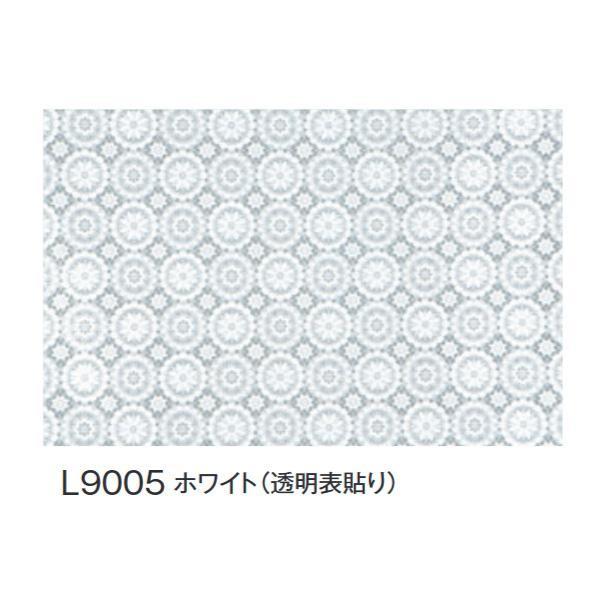 【同梱代引き不可】富双合成 テーブルクロス FGラミネートレース(広幅) 約132cm幅×20m巻 L9005 ホワイト(透明表貼り)
