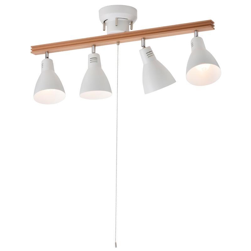 OHM 4灯シーリングライト LED電球付 ホワイト LT-YY40AW-W