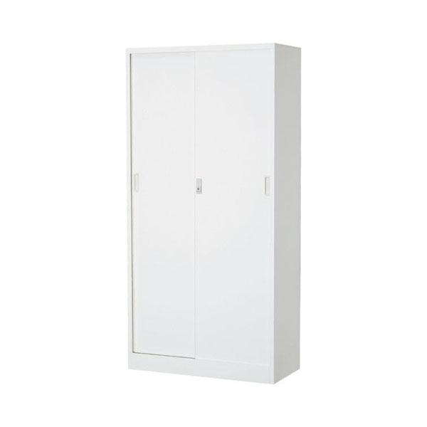 【同梱代引き不可】オフィス向け 一般書庫・ホワイト 3×6型引違書庫 1号鉄戸 COM-603D-W