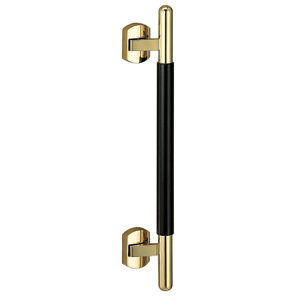 シンプルでおしゃれなデザインのハンドルです。 プッシュプルハンドル ウッディー 真鍮・積層 SPP-1 金・黒ウッド