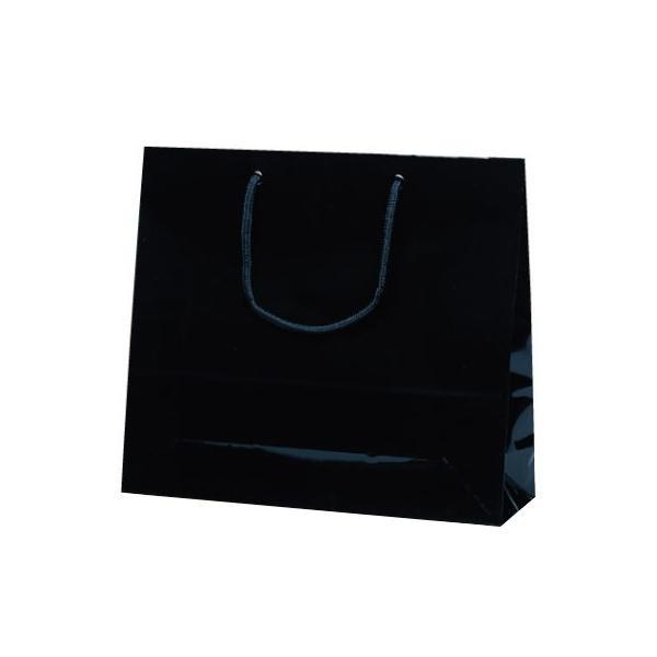 ファインバッグ 手提袋 330×100×290mm 50枚 ブラック 1171