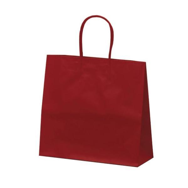 マットバッグ(M) 手提袋 320×110×290mm 50枚 ワイン 1061