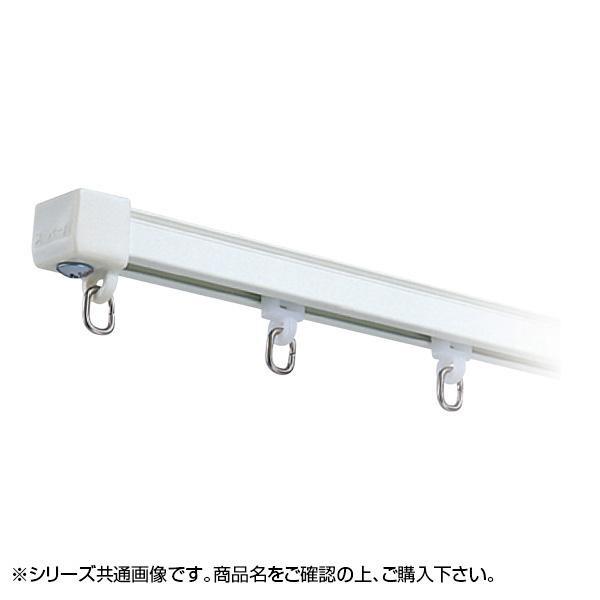 【同梱代引き不可】岡田装飾 OSスーパーAレールセット(MG無) 3m×2本 AワンタッチWブラケット付き6個 アルミホワイト 7PW30AW