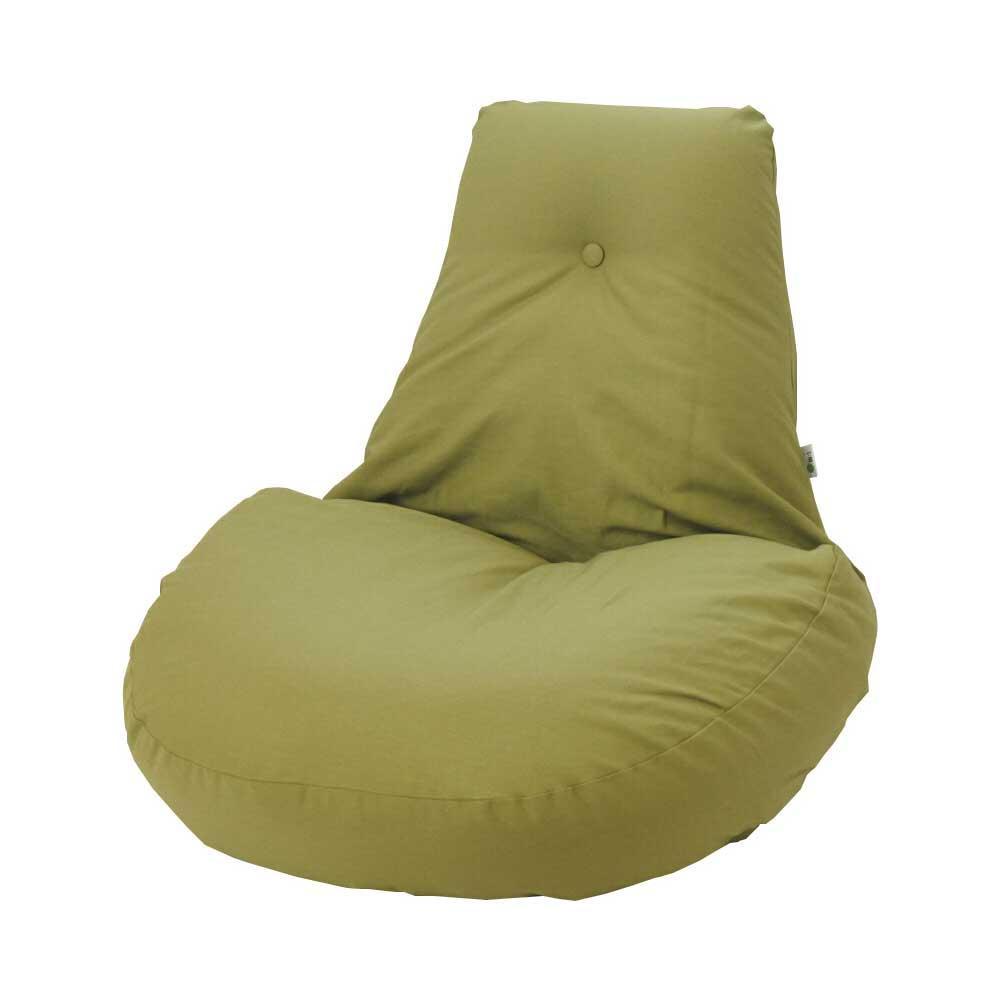 【同梱代引き不可】ふわふわ座椅子 凛 オリーブグリーン