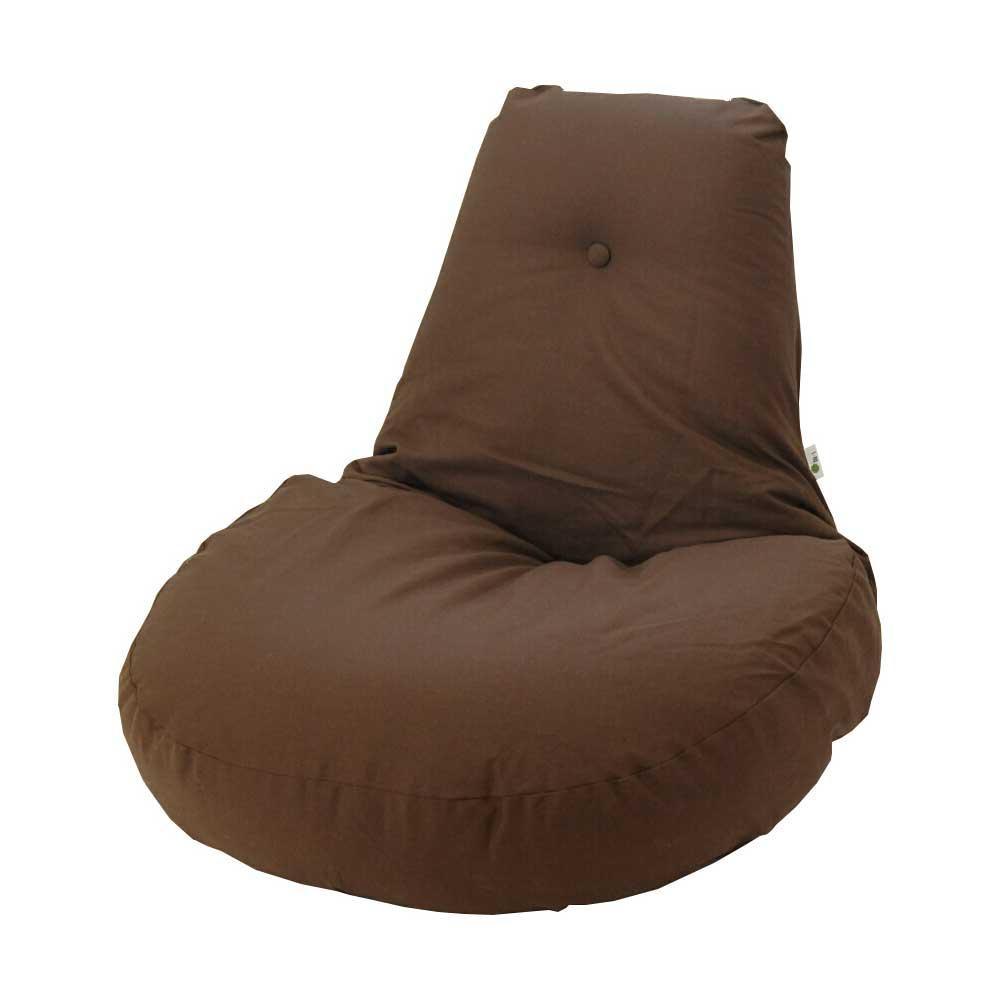 【同梱代引き不可】ふわふわ座椅子 凛 ブラウン