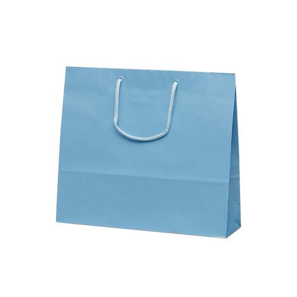ファインバッグ 手提袋 330×100×290mm 50枚 ブルー 1177