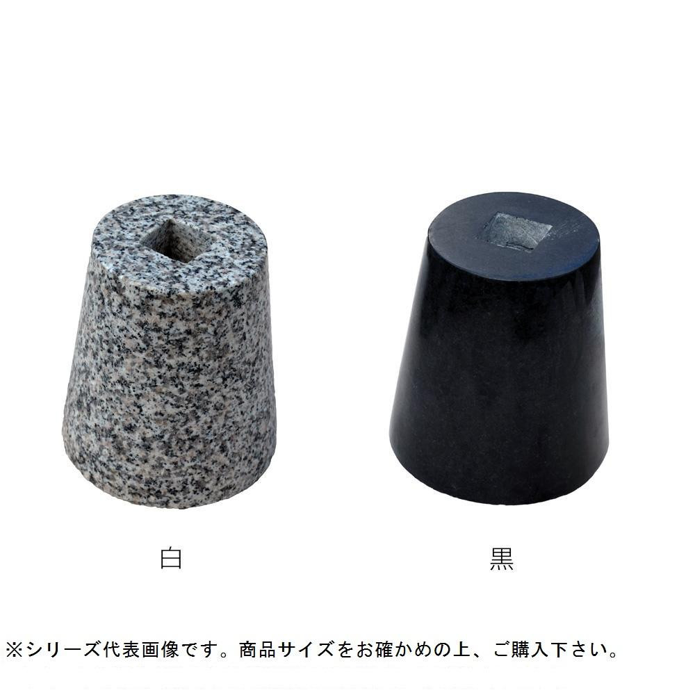 【同梱・代引き不可】 マツモト産業 景観石材 御影束石 丸 (H200) 150Φ×200Φ×200mm 白
