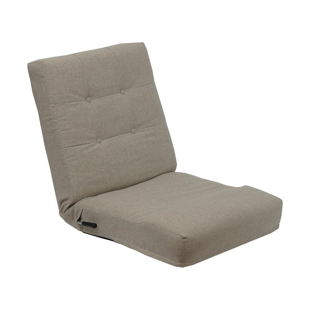 【同梱代引き不可】レバー式1人掛け座椅子ネップ ベージュ