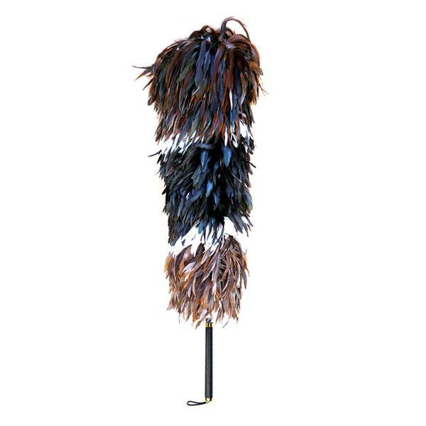 【同梱代引き不可】石塚羽毛 日本製 ニワトリ毛ばたき 1100mm K200