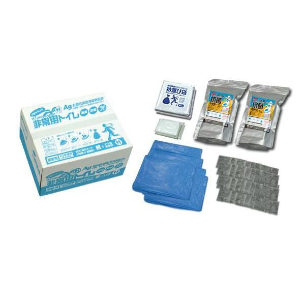抗菌ヤシレット 15年保存・抗菌非常用トイレ(汚物袋付き)業務用100回 BR-1000