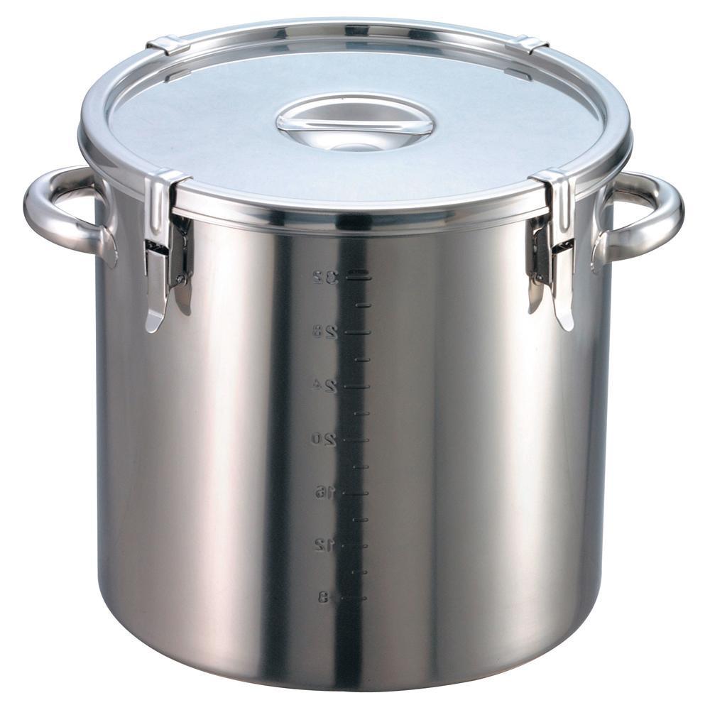 EBM 18-8 パッキン寸胴鍋(目盛付)33cm 手付 48100