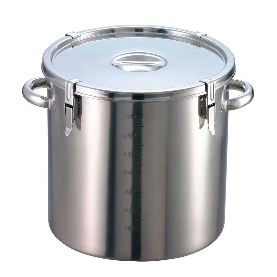 EBM 18-8 パッキン寸胴鍋(目盛付)42cm 手付 8044600