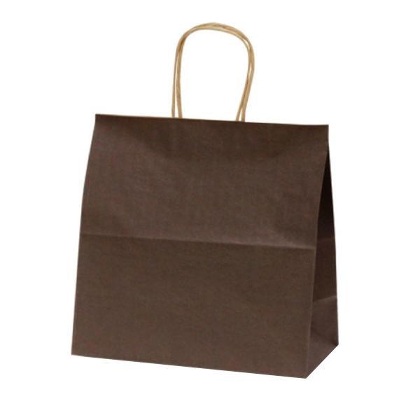 【同梱代引き不可】T-6W 自動紐手提袋 紙袋 紙丸紐タイプ 300×150×300mm 300枚 カラー(カカオ) 1683