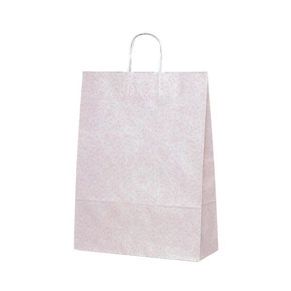 【同梱代引き不可】T-12 自動紐手提袋 紙袋 紙丸紐タイプ 380×145×500mm 200枚 フロスティ(ピンク) 1443