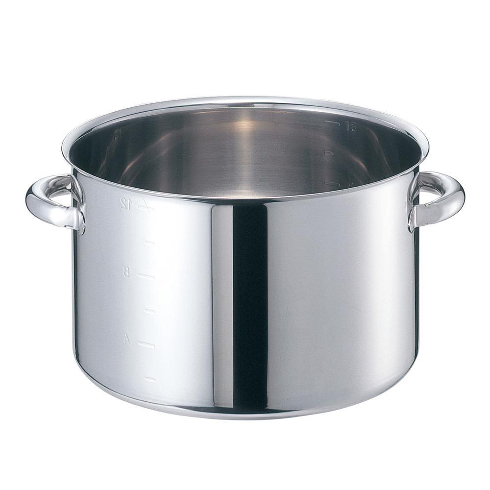 EBM モリブデンジII 半寸胴鍋(目盛付)42cm 蓋無 8689700