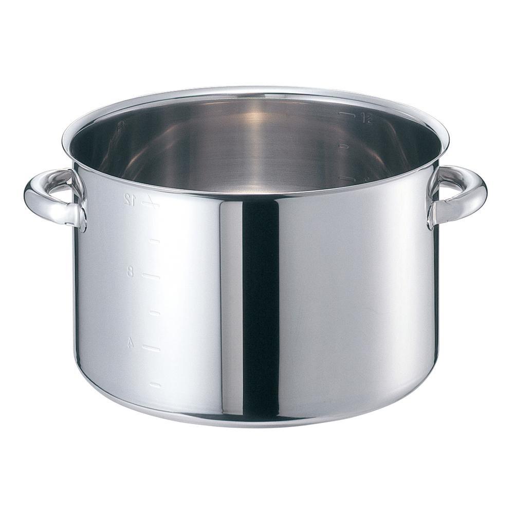 EBM モリブデンジII 半寸胴鍋(目盛付)45cm 蓋無 8689800