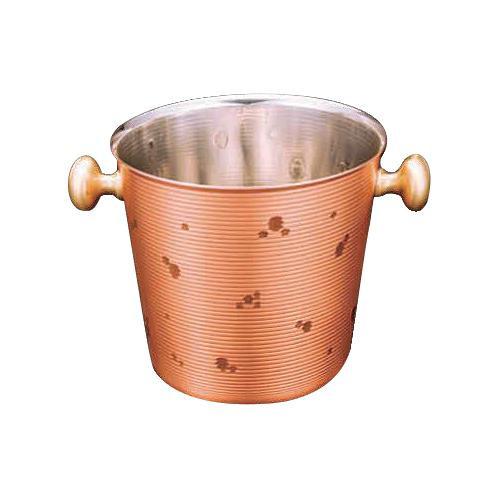 熱伝導性に優れた純銅製 【同梱・代引き不可】 新光堂 雪月花 素銅仕上げ純銅アイスペール2L CF-81-1