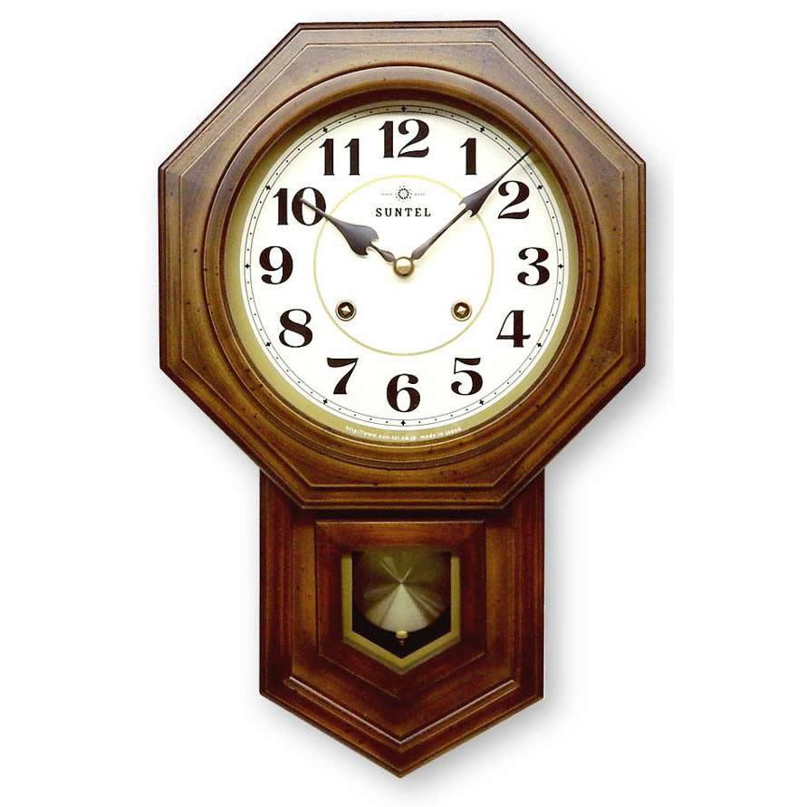 昔ながらのなつかしい振り子時計 新品未使用正規品 ボンボン振り子時計 お得なキャンペーンを実施中 アラビア文字 QL688 八角渦ボン時計