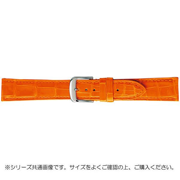 BAMBI バンビ 時計バンド グレーシャス ワニ革 オレンジ(美錠:白) BWA005LS