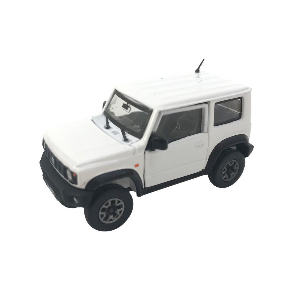 本物を再現したモデルカー BM CREATIONS スズキ ジムニー JB74 定番キャンバス 64B0018 スペリアホワイト LHD 1 日本全国 送料無料 64スケール